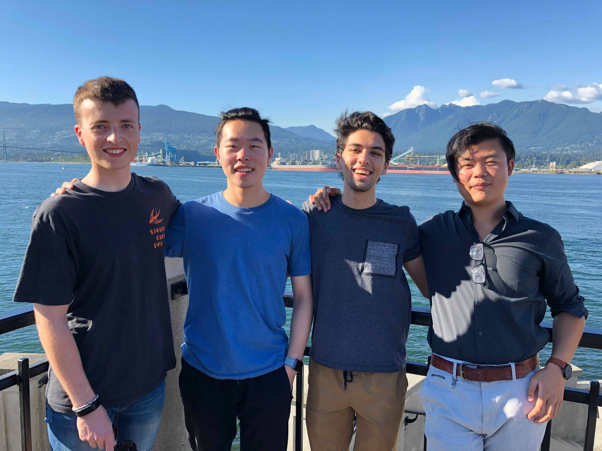 Summer 2018: Peter, Youchang, Usman, and Weiying